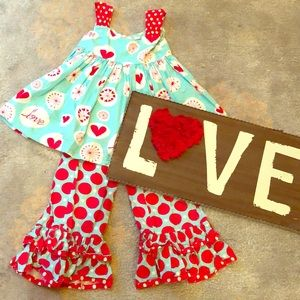 ❤️ Valentine Love ❤️ Outfit Ruffle Pants & Heart 8